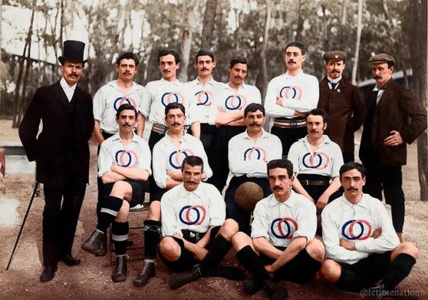 1900 г. Мустакатият отбор на Франция на Олимпиадата през 1900 г.
